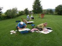 (Bild)Hier malen wir in der Umgebung des Ateliers